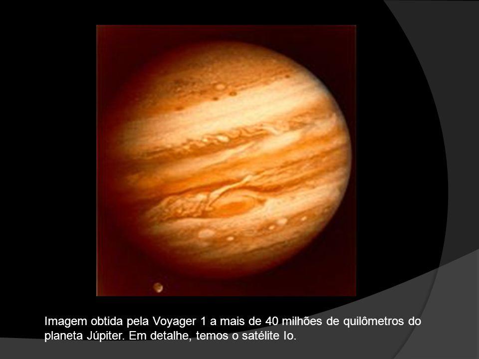 Imagem obtida pela Voyager 1 a mais de 40 milhões de quilômetros do planeta Júpiter.
