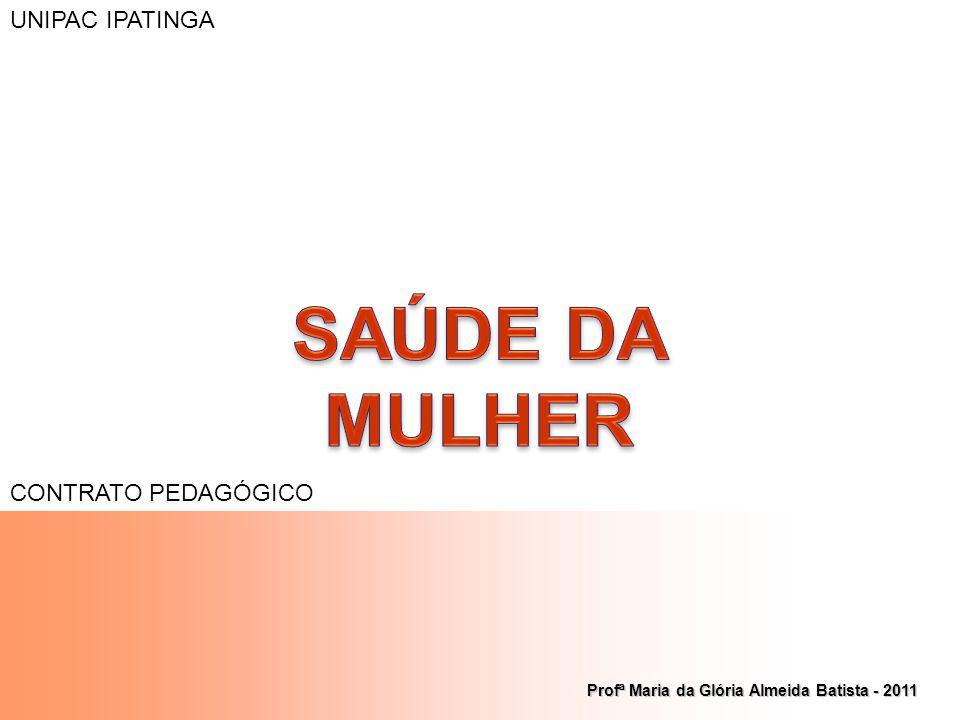 Profª Maria da Glória Almeida Batista - 2011 UNIPAC IPATINGA CONTRATO PEDAGÓGICO