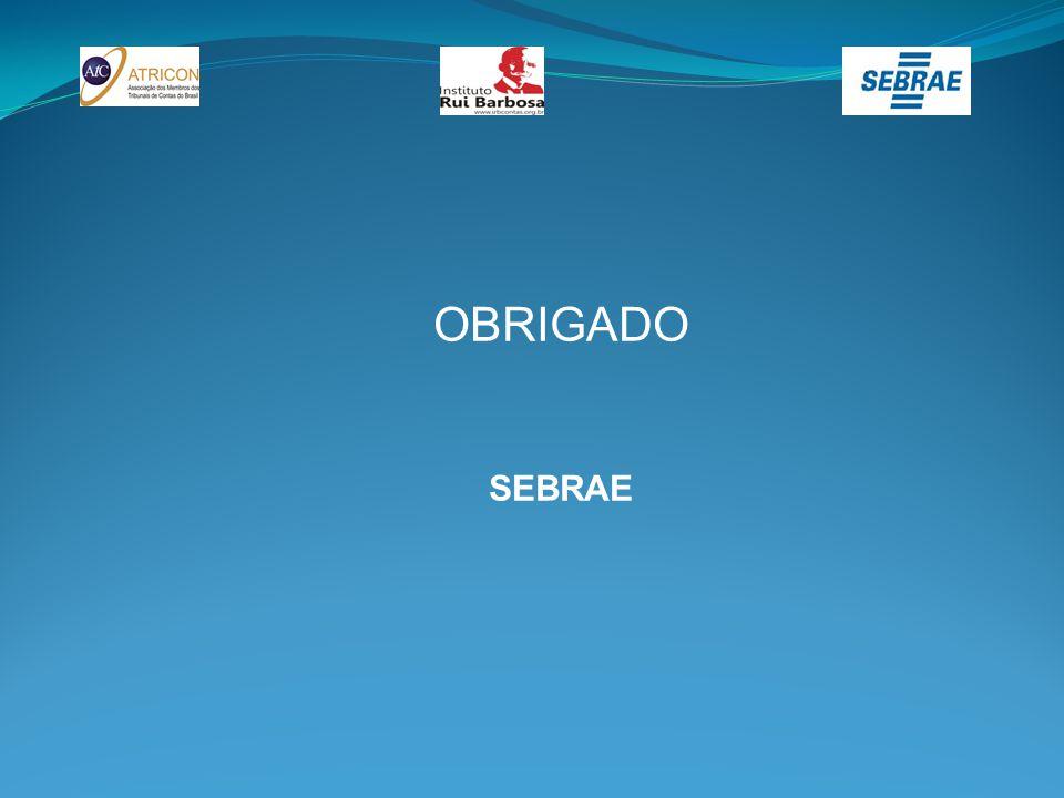 OBRIGADO SEBRAE