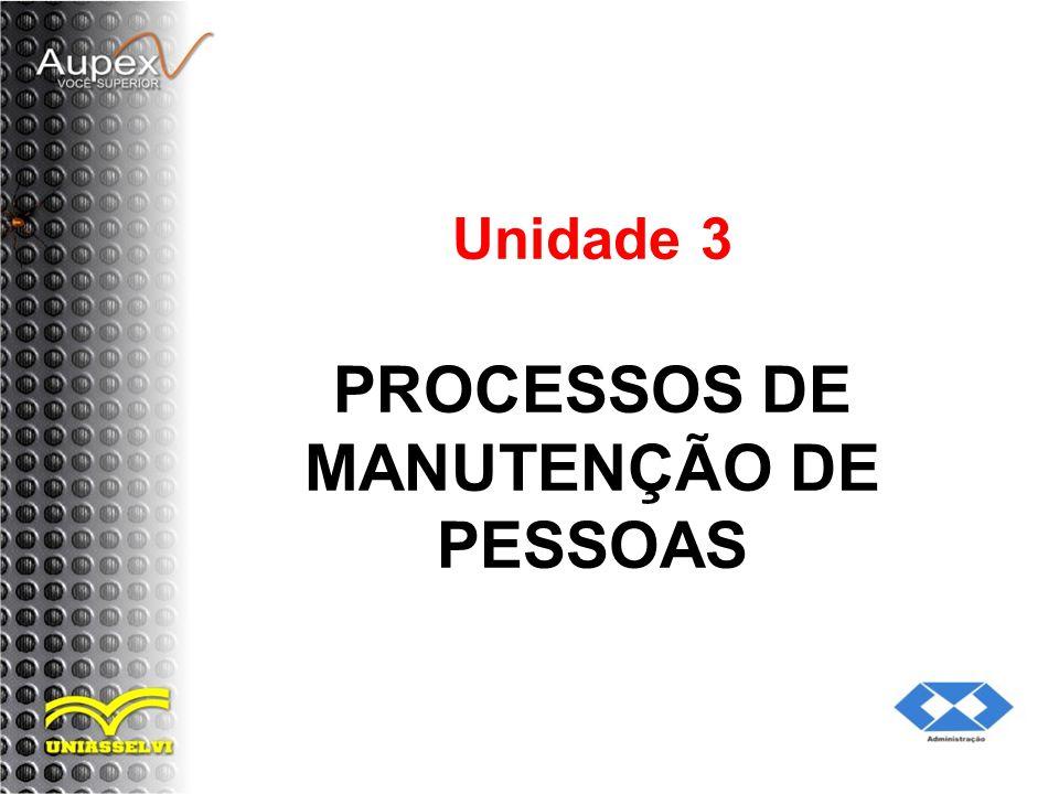 Unidade 3 PROCESSOS DE MANUTENÇÃO DE PESSOAS
