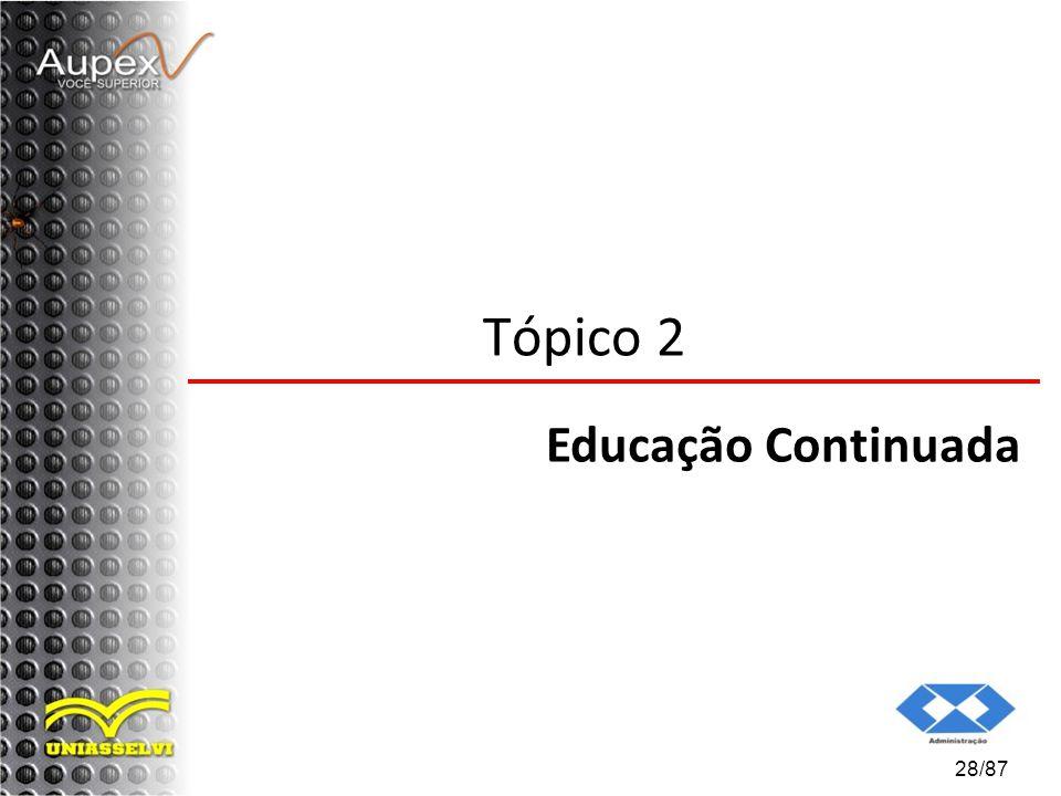 28/87 Tópico 2 Educação Continuada
