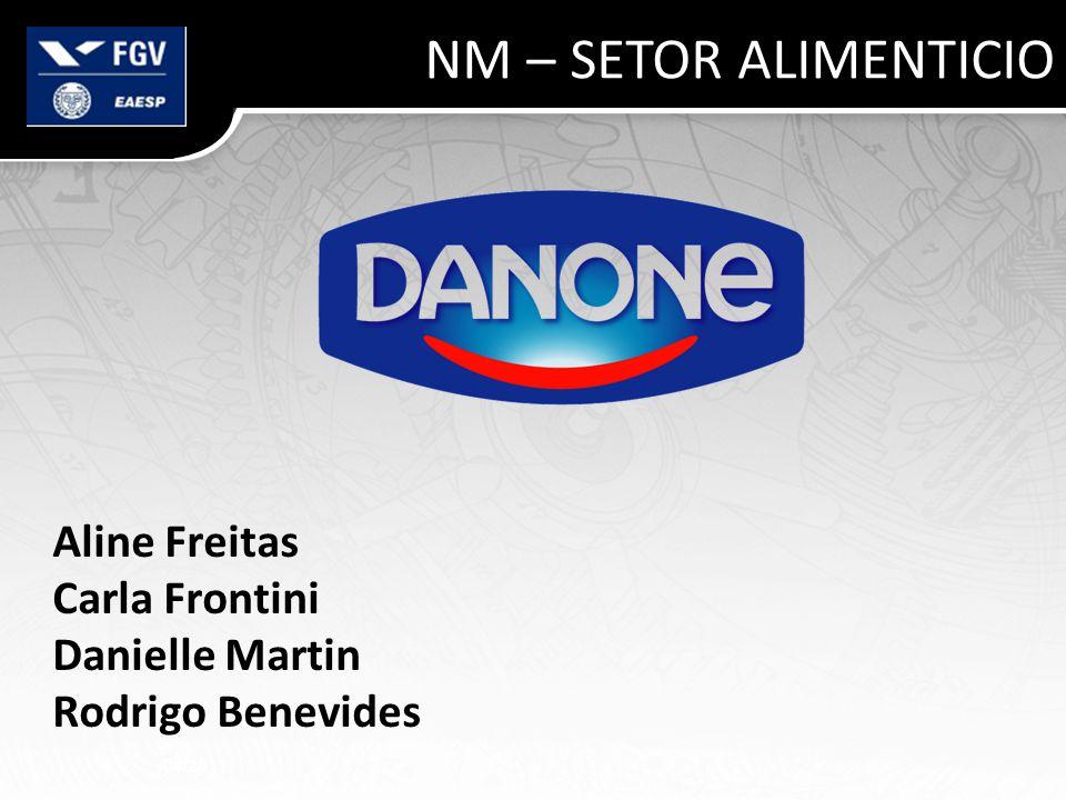 NM – SETOR ALIMENTICIO Aline Freitas Carla Frontini Danielle Martin Rodrigo Benevides /04/2011