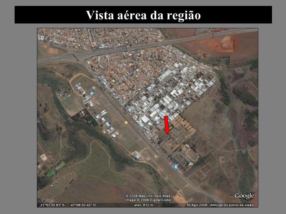 Vista aérea da região