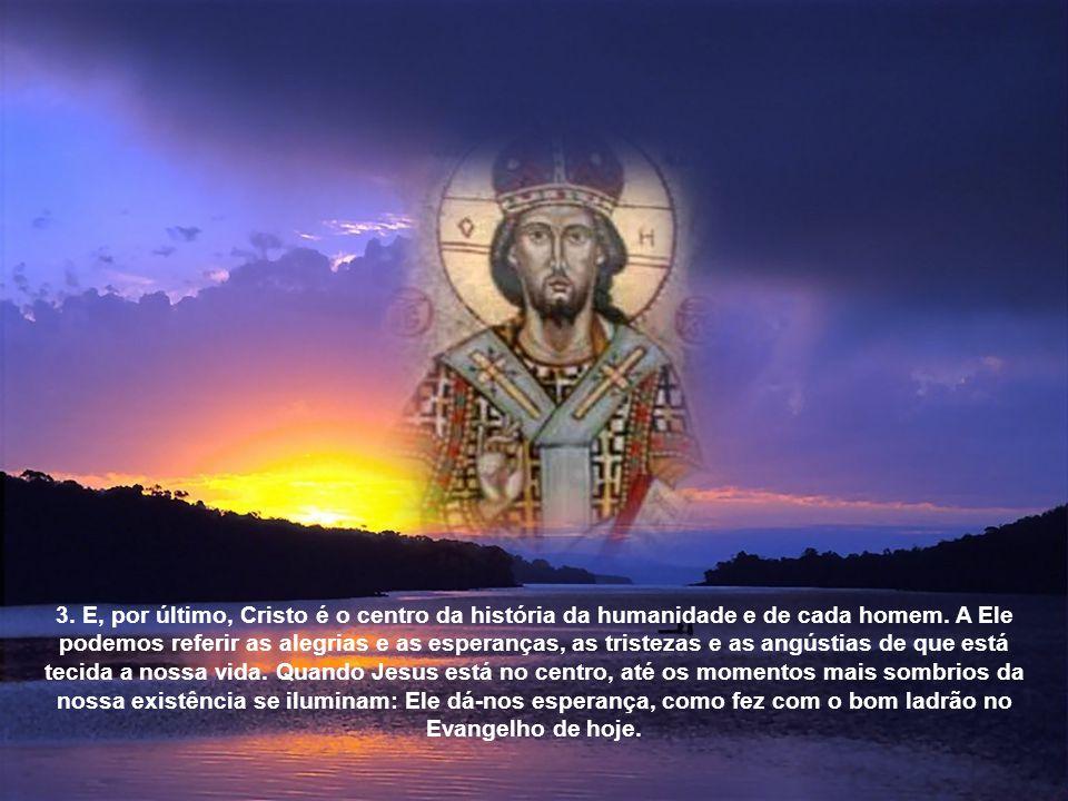 Cristo, descendente do rei David, é o «irmão» ao redor do qual se constitui o povo, que cuida do seu povo, de todos nós, a preço da sua vida. N'Ele, n