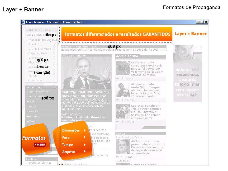 Layer + Banner Formatos de Propaganda
