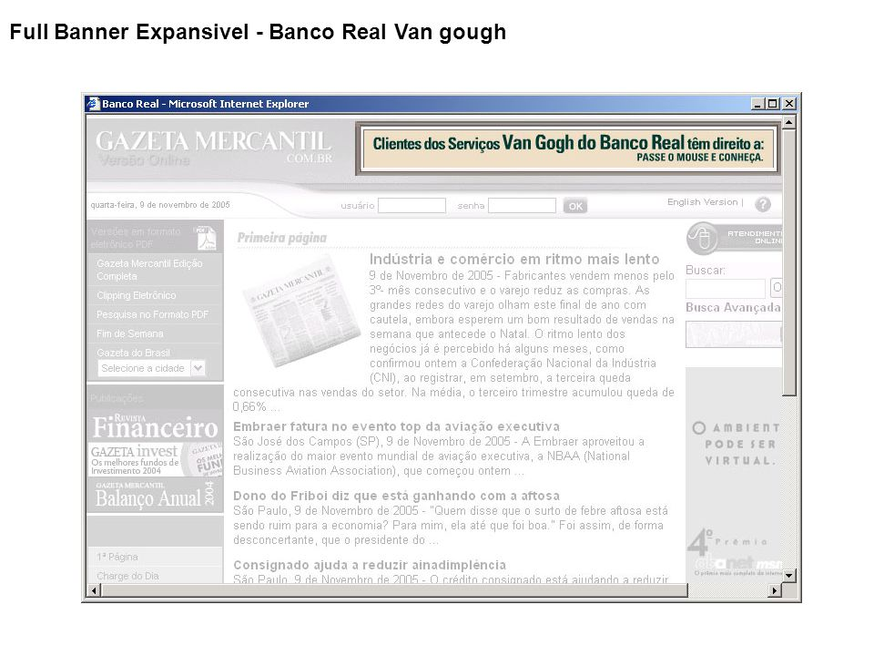 Full Banner Expansivel - Banco Real Van gough