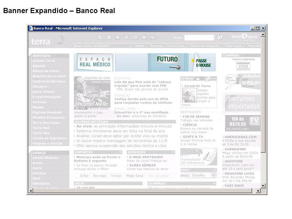 Banner Expandido – Banco Real