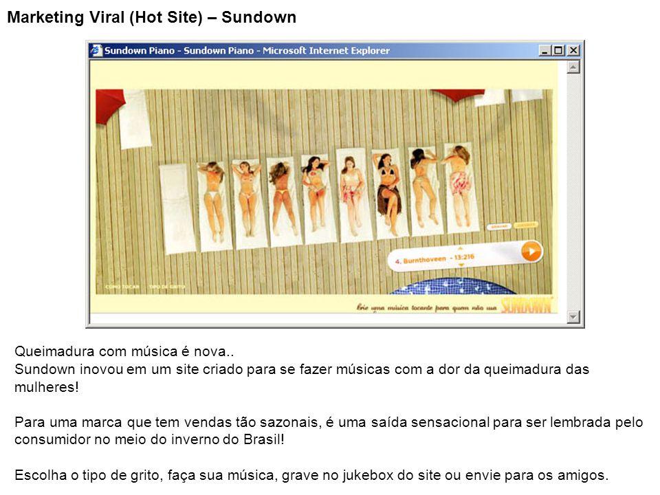 Marketing Viral (Hot Site) – Sundown Queimadura com música é nova.. Sundown inovou em um site criado para se fazer músicas com a dor da queimadura das