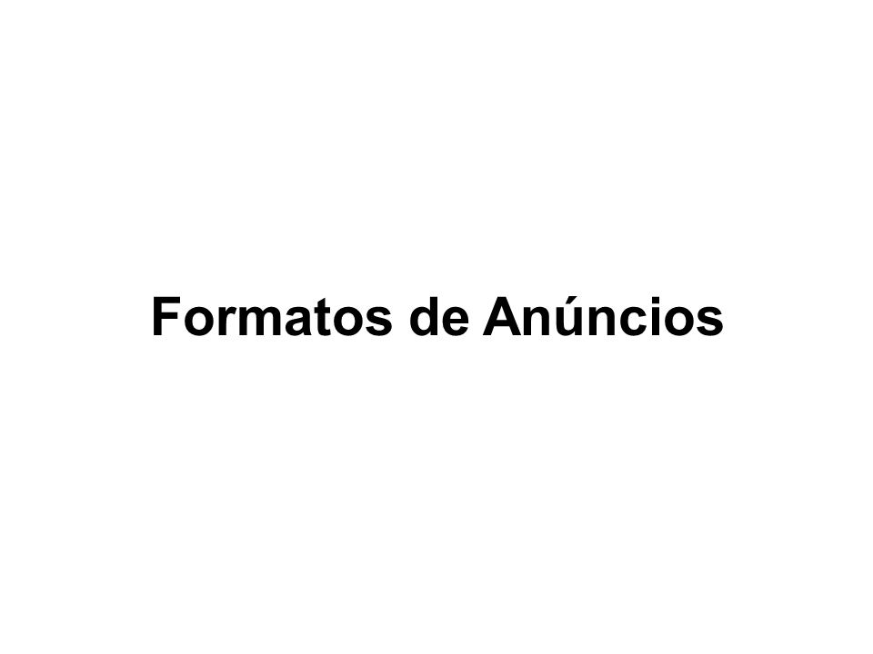 Formatos de Anúncios
