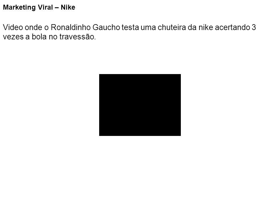 Marketing Viral – Nike Video onde o Ronaldinho Gaucho testa uma chuteira da nike acertando 3 vezes a bola no travessão.