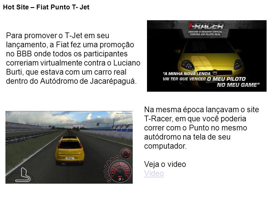 Para promover o T-Jet em seu lançamento, a Fiat fez uma promoção no BBB onde todos os participantes correriam virtualmente contra o Luciano Burti, que