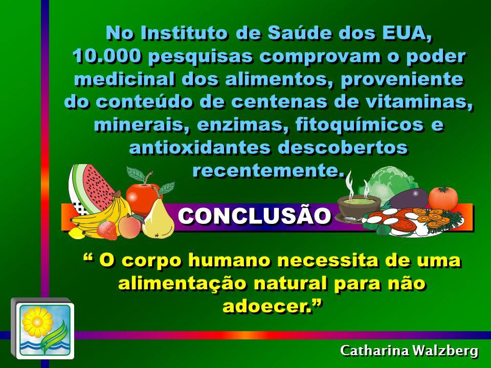 Catharina Walzberg É a combinação dos micronutrientes, dos fitoquímicos, das enzimas e das fibras que promove o poder curativo dos alimentos naturais.
