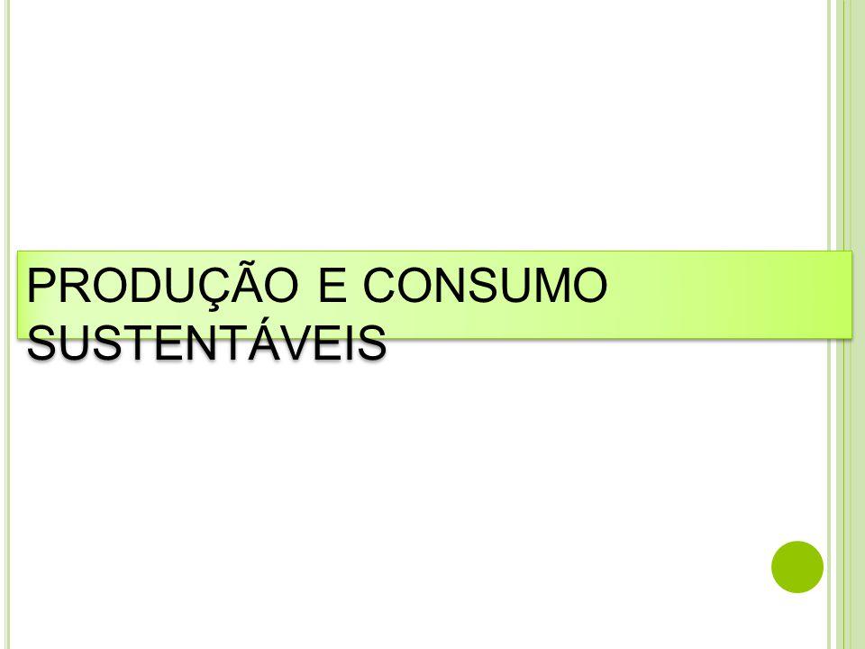 PRODUÇÃO E CONSUMO SUSTENTÁVEIS