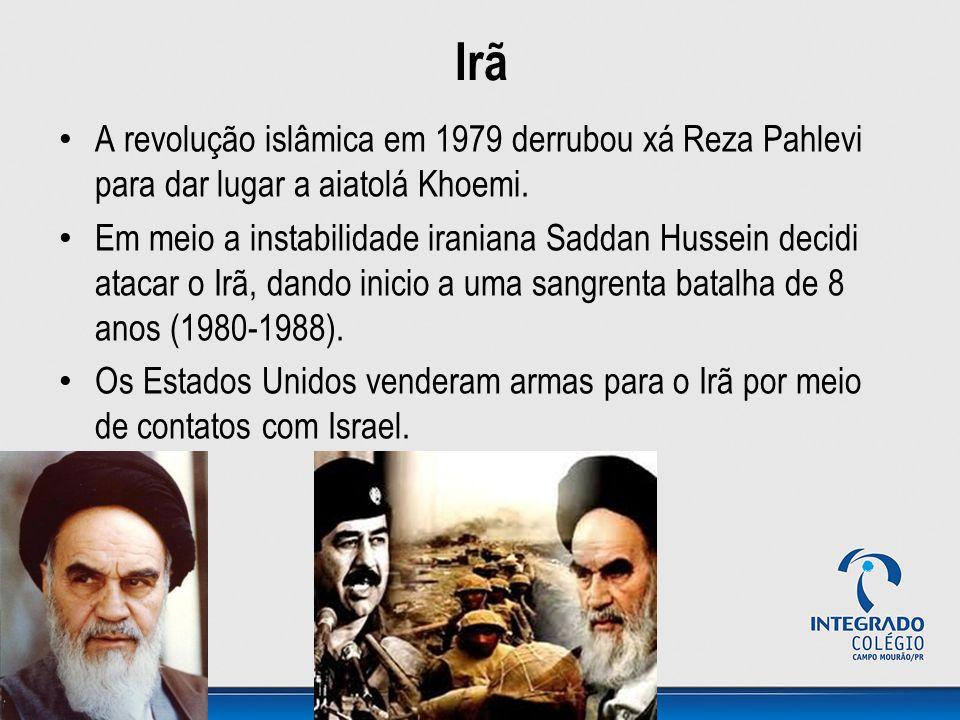 Irã A revolução islâmica em 1979 derrubou xá Reza Pahlevi para dar lugar a aiatolá Khoemi. Em meio a instabilidade iraniana Saddan Hussein decidi atac