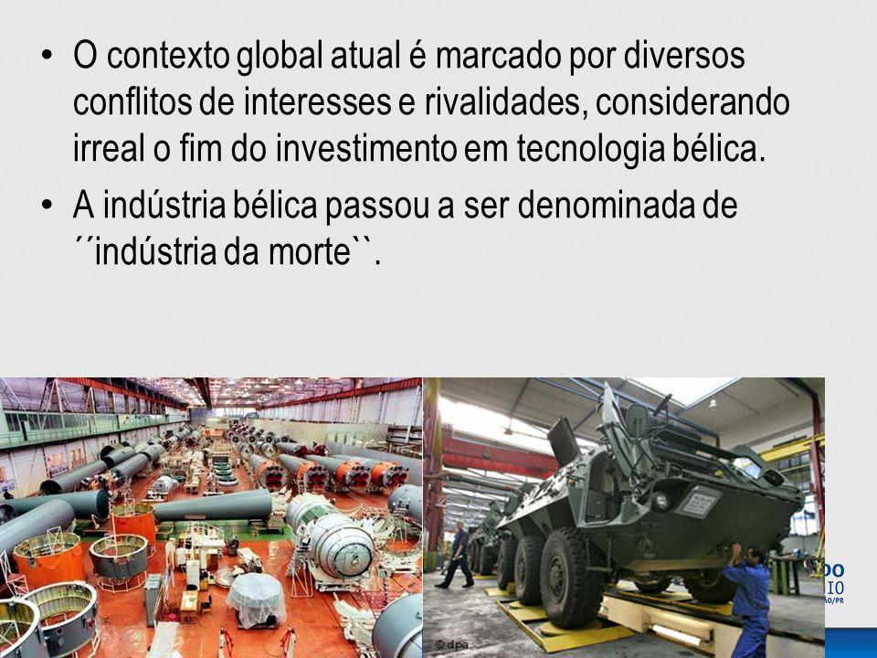 O contexto global atual é marcado por diversos conflitos de interesses e rivalidades, considerando irreal o fim do investimento em tecnologia bélica.