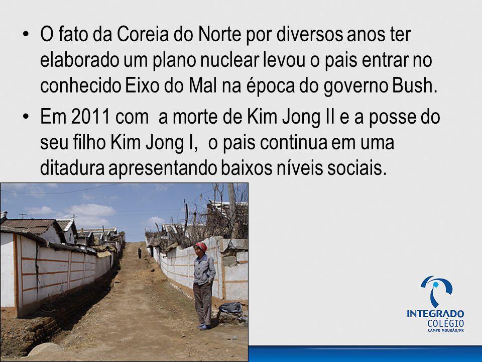 O fato da Coreia do Norte por diversos anos ter elaborado um plano nuclear levou o pais entrar no conhecido Eixo do Mal na época do governo Bush. Em 2