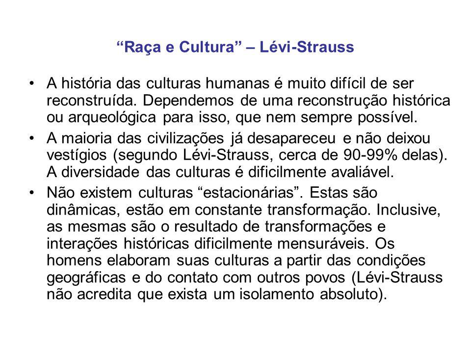 Conclusões Lévi-Strauss faz dezenas de perguntas ao longo do texto.