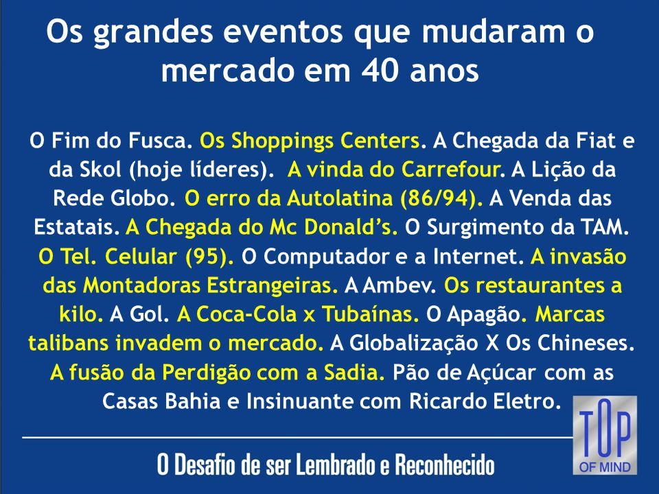 MÁ GESTÃO DAS MARCAS LEVA AO CEMIT.