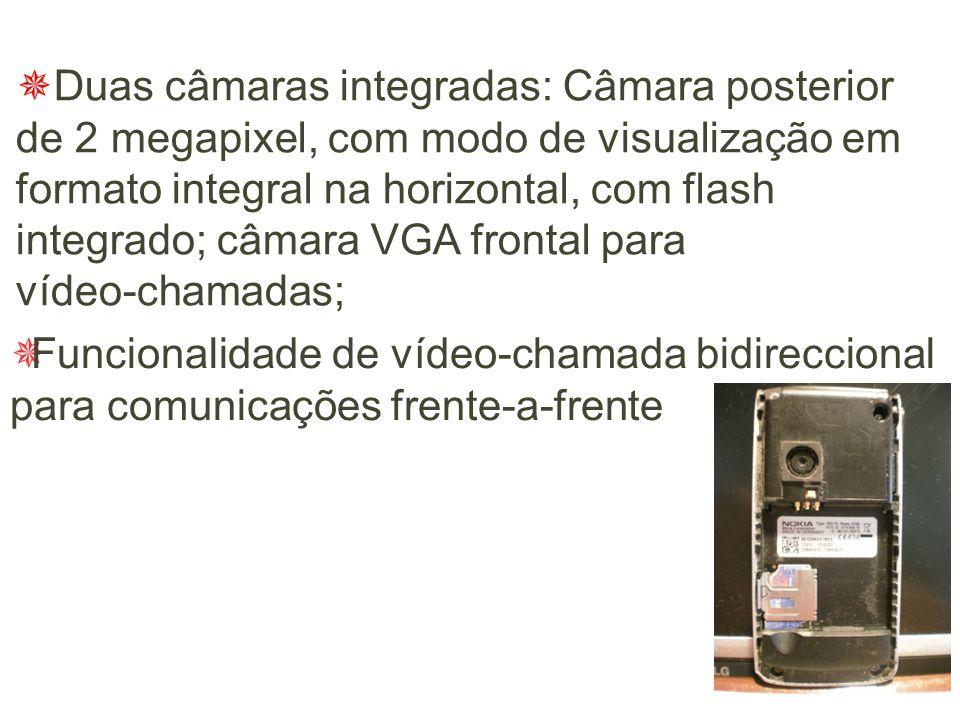  Ecrã QVGA com 262,144 cores e grande nitidez, permite apreciar os seus vídeos e imagens com qualidade superior