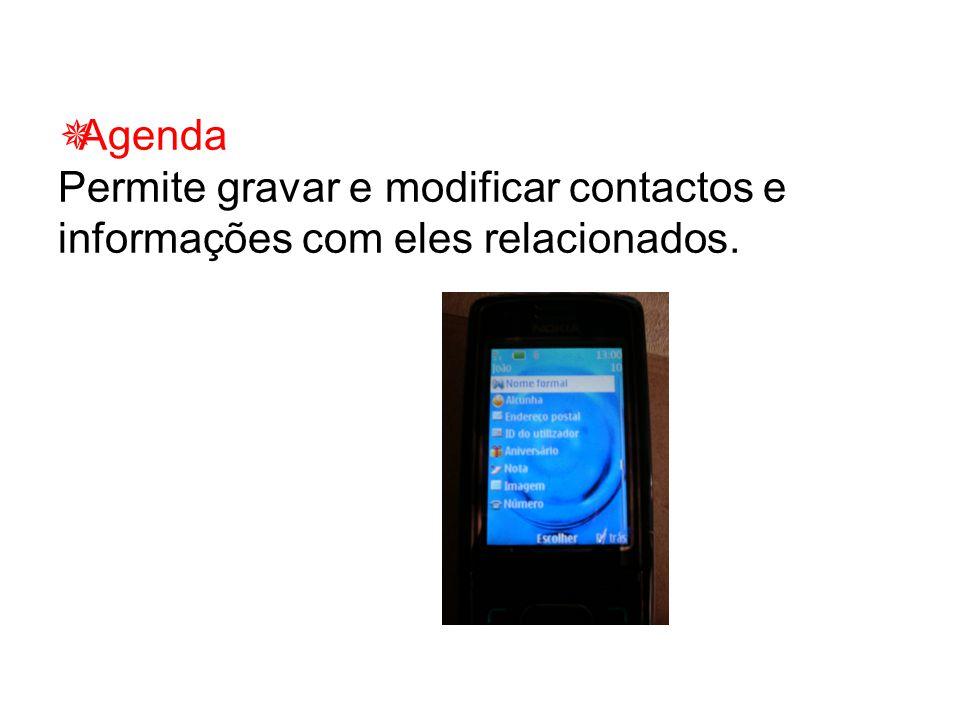  Serviço de mensagens escritas e multimédia Permite o envio e recepção de mensagens escritas e multimédia.
