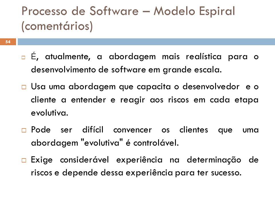  É, atualmente, a abordagem mais realística para o desenvolvimento de software em grande escala.  Usa uma abordagem que capacita o desenvolvedor e o