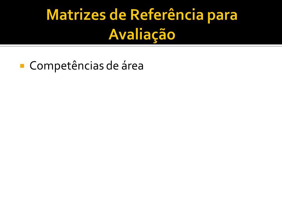  Competências de área