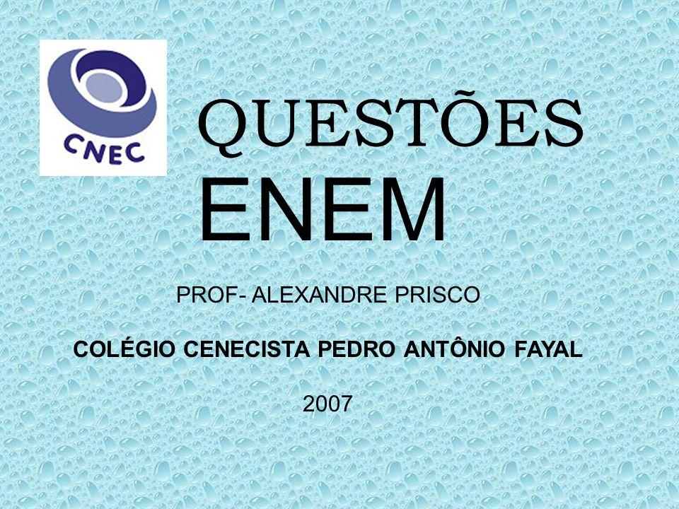 QUESTÕES ENEM PROF- ALEXANDRE PRISCO COLÉGIO CENECISTA PEDRO ANTÔNIO FAYAL 2007