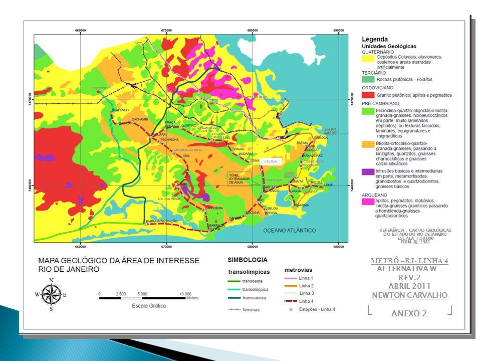 COSME VELHO DONA MARTA ASSUNÇÃO REBOUÇAS URUGUAI ENGENHO DE DENTRO BOCA DO MATO ENGENHO DA SERRA RIO DAS PEDRAS DEODORO REFERÊNCIA : CARTAS GEOLÓGICAS