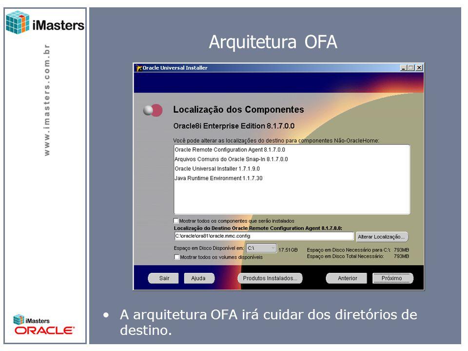 Arquitetura OFA A arquitetura OFA irá cuidar dos diretórios de destino.
