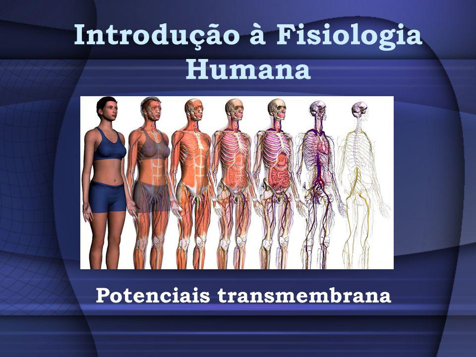 Introdução à Fisiologia Humana Potenciais transmembrana