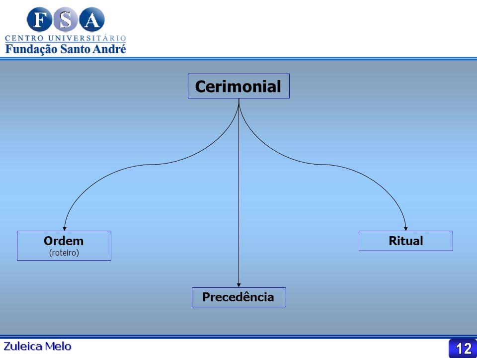 Cerimonial Ordem (roteiro) Precedência Ritual