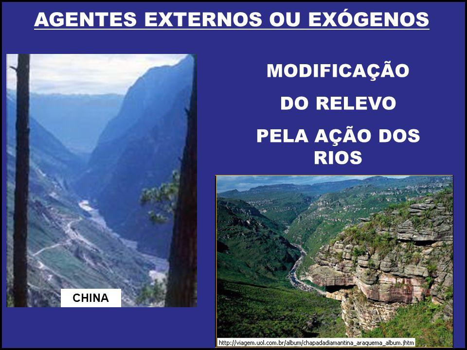 AGENTES EXTERNOS OU EXÓGENOS MODIFICAÇÃO DO RELEVO PELA AÇÃO DOS RIOS CHINA