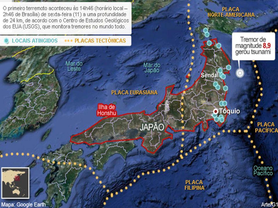 (ACAFE-mod.) O terremoto e tsunami ocorridos no Japão recentemente e o terremoto da ilha Indonésia de Sumatra não têm relação, apesar de terem sido registrados no anel de fogo do Pacífico .