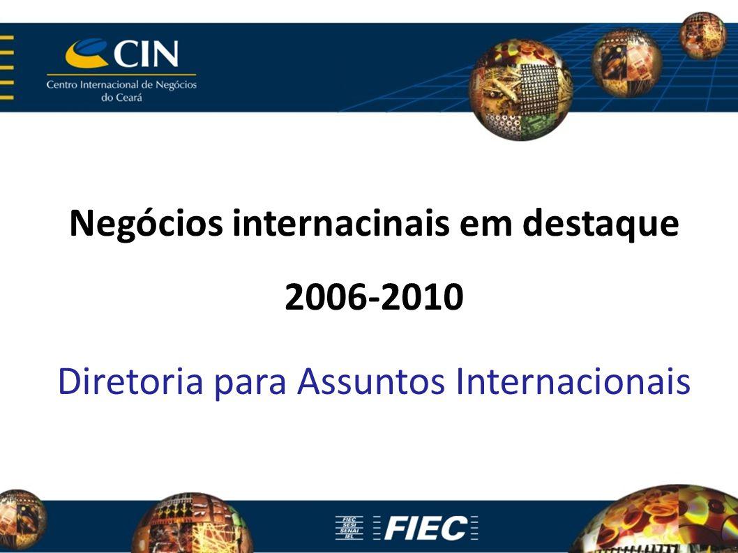 Negócios internacinais em destaque 2006-2010 Diretoria para Assuntos Internacionais