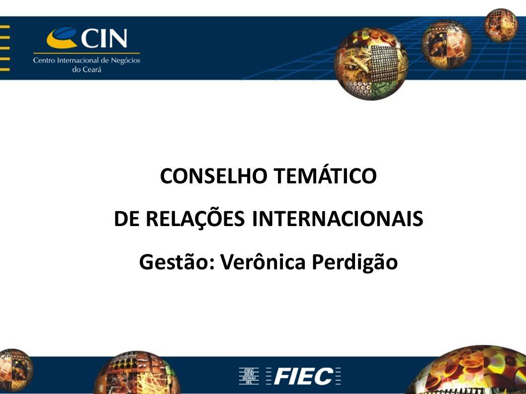 CONSELHO TEMÁTICO DE RELAÇÕES INTERNACIONAIS Gestão: Verônica Perdigão