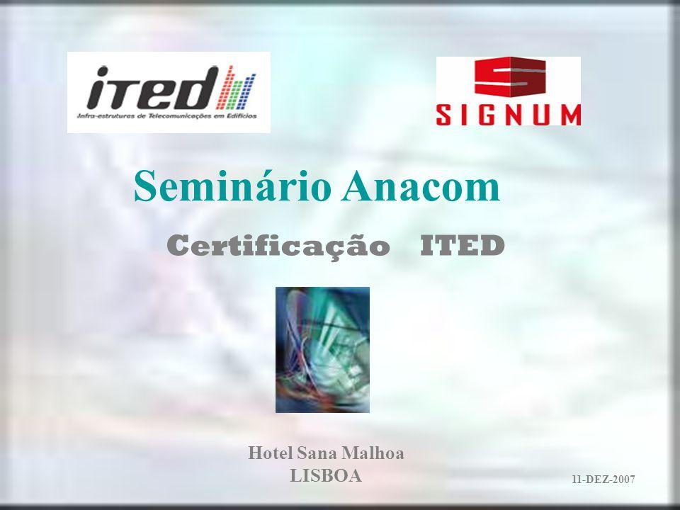 Certificação ITED 11-DEZ-2007 Hotel Sana Malhoa LISBOA Seminário Anacom