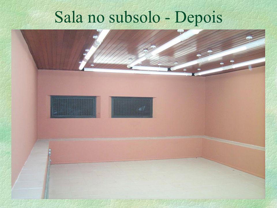 Sala no subsolo - Depois