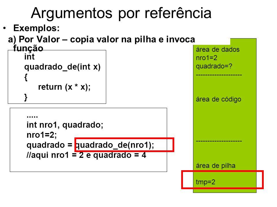 área de dados nro1=2 quadrado=.