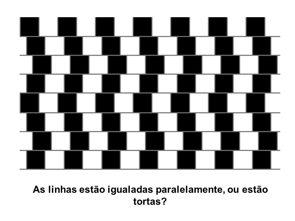 As linhas estão igualadas paralelamente, ou estão tortas?