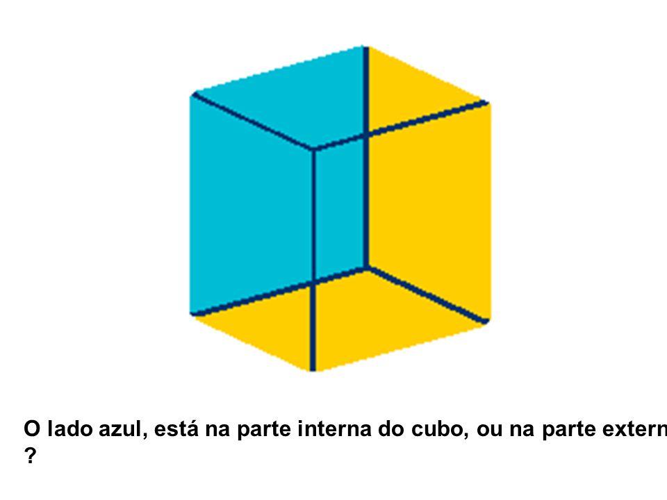 O lado azul, está na parte interna do cubo, ou na parte externa ?