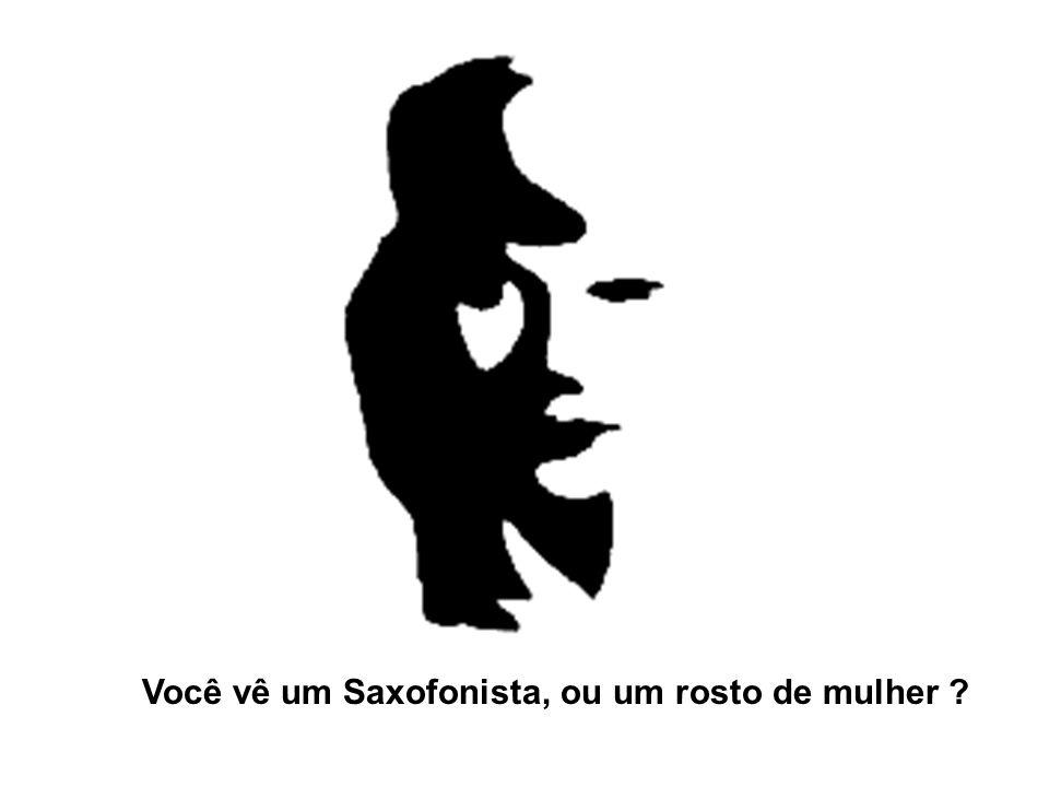 Você vê um Saxofonista, ou um rosto de mulher ?