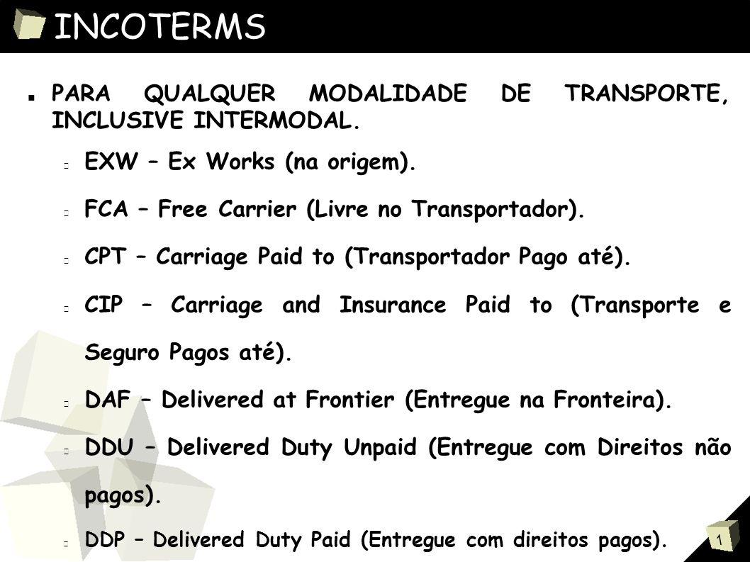 1 DOCUMENTOS DE TRANSPORTE ■ DOCUMENTOS DE TRANSPORTE MARÍTIMO.