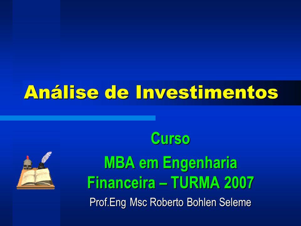 Prof Eng Msc Roberto Bohlen Seleme 45 Risco Gerais Risco de gestão Risco de gestão Risco do negócio Risco do negócio Risco do mercado Risco do mercado........