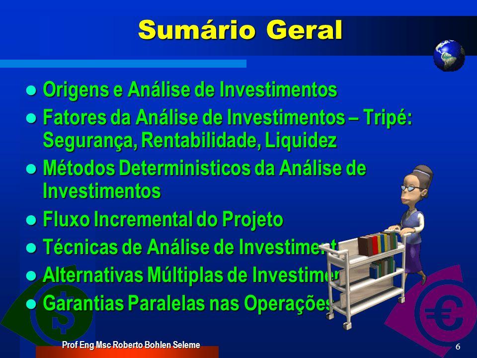 Prof Eng Msc Roberto Bohlen Seleme 5 PROGRAMAÇÃO AULAS DATAS 1.