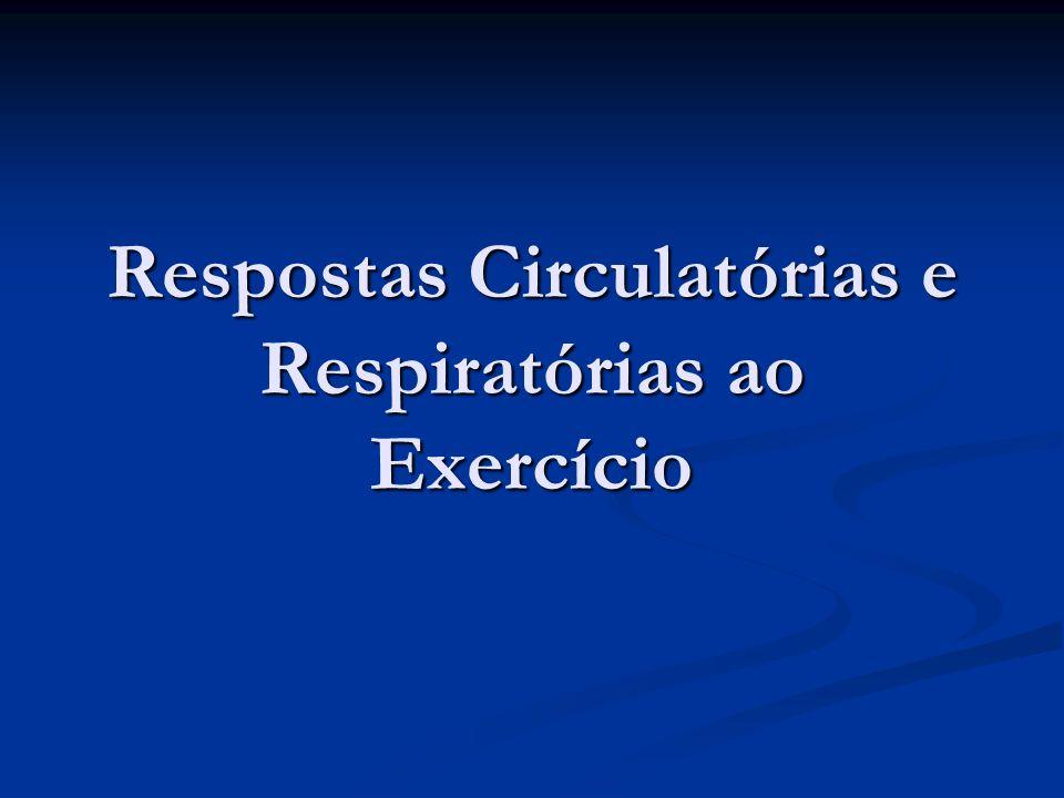Respostas Circulatórias e Respiratórias ao Exercício