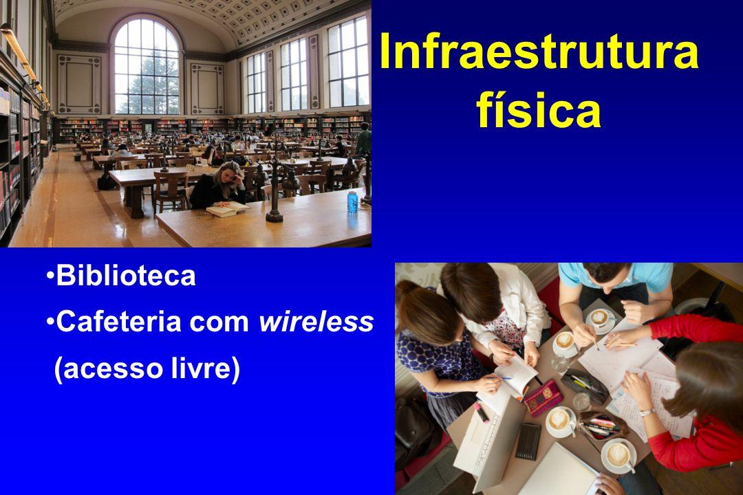 Infraestrutura física Biblioteca Cafeteria com wireless (acesso livre)