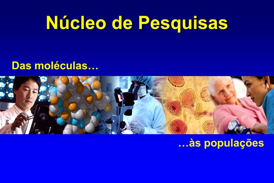 Núcleo de Pesquisas Das moléculas… …às populações