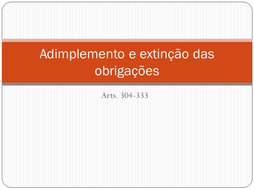 Arts. 304-333 Adimplemento e extinção das obrigações