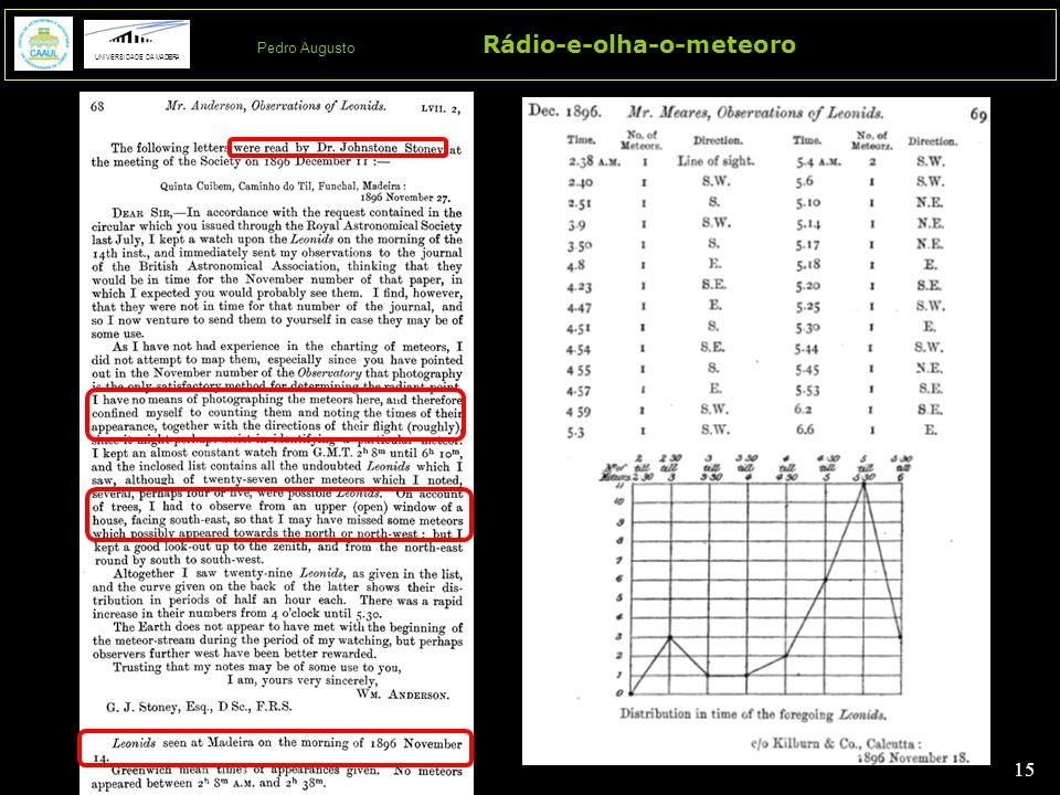 15 Rádio-e-olha-o-meteoro UNIVERSIDADE DA MADEIRA Pedro Augusto