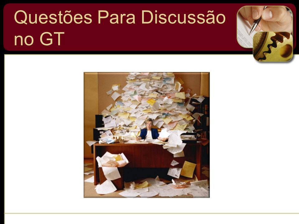 Questões Para Discussão no GT